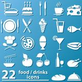 Fototapety Essen und Trinken - Zeichen