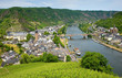 The city of Cochem on the banks of the river mosel