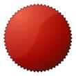 Störer rund - gezackt - Rot