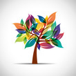 Colorful tree # Vector