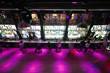 Long empty dance floor near bar