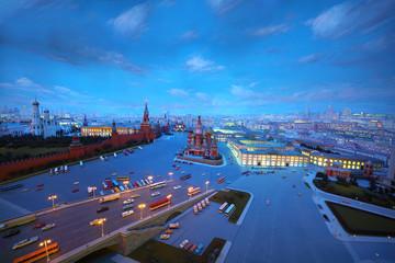 Evening diorama of Moscow