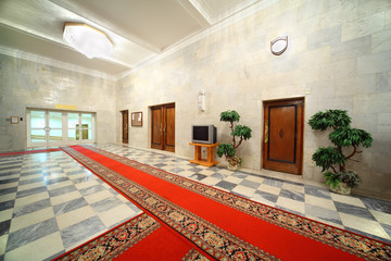 Hall in building