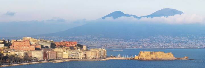 panoramic view of Naples gulf