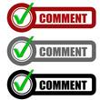 Checkbox Schild 3er COMMENT