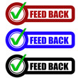 Checkbox Schild 3er FEED BACK