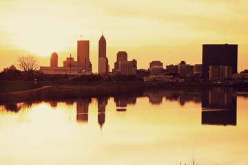 Indianapolis at sunrise