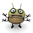 afraid green bug