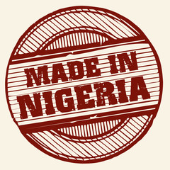 Grunge stamp -  Made in Nigeria