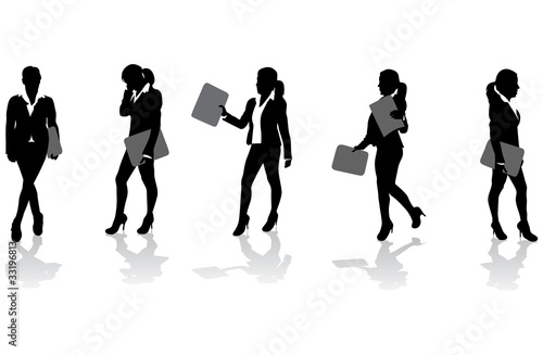 business women with folders