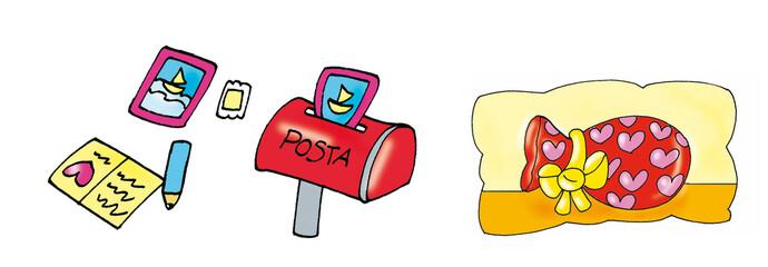 easter letter, mailbox, Easter egg