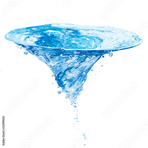 Water Vortex Illustration