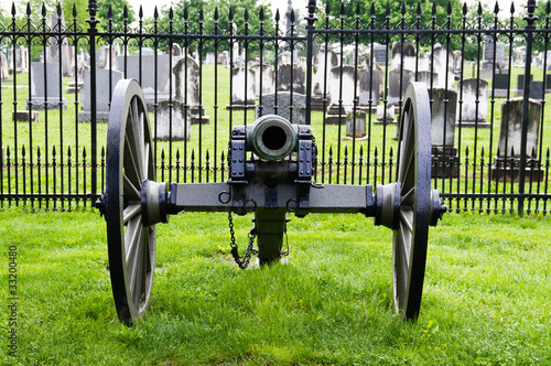 Civil war era cannon