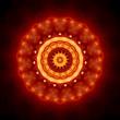 Mandala goldbraun