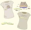 Element for design. Women's t-shirt illustration.