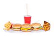 fast food set (focus on central burger)