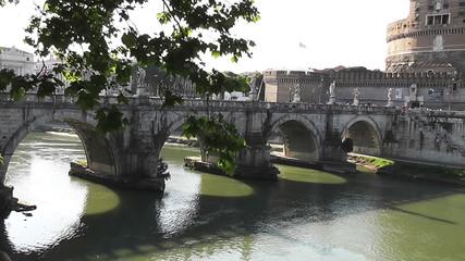 Tiber River, Rome, Italy - HD