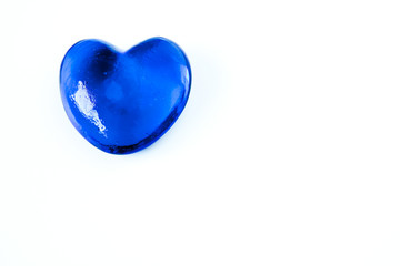 Blue glass heart