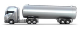 Oil Tanker truck. Isolated 3D image . MY OWN DESIGN