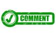 Grunge Checkbox grün COMMENT