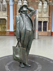 Statue of John Betjeman, St Pancras, London