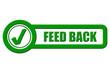 Checkbox Schild grün rel FEED BACK
