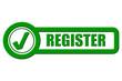 Checkbox Schild grün rel REGISTER
