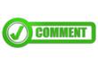 Checkbox Schild grün glas COMMENT