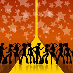 Disco Party Fete Sterne Tanzen