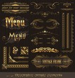 Ornate golden design elements & page decor