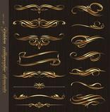 Fototapety Golden calligraphic vector design elements