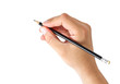 Leinwandbild Motiv hand holding a pencil