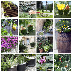 A collage of beautiful gardens