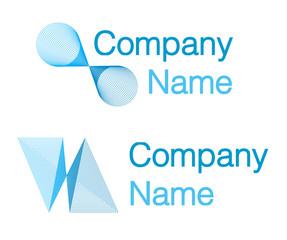 Firmenlogo (company logo) editable text