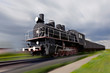 Steam locomotive in motion