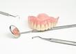 artificial teeth, dental instruments