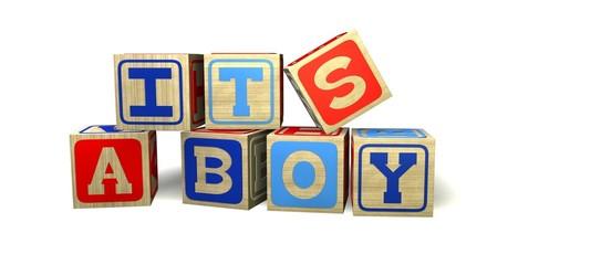 Buchstabenwuerfel_It's a boy