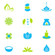 Wellness zen natural and spa icons and elements - Vector