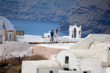 Oia (Ia), Santorini, Cyclades, Greece.