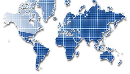 ソーラーパネル世界地図