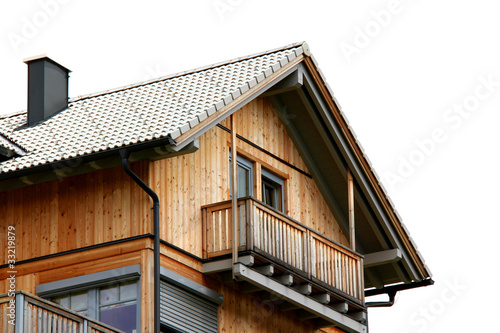 Holzhaus freigestellt