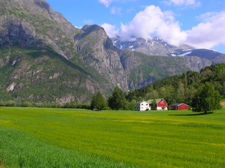 Beautiful Norway mountain landscape