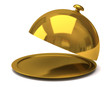 Gold restaurant cloche