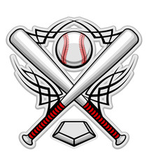 Color baseball emblem