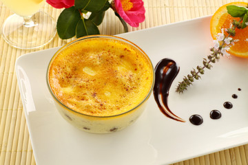 Baked Rice Custard