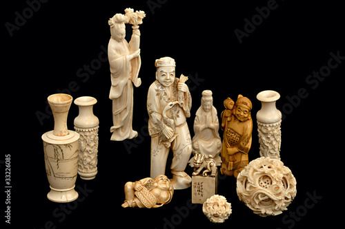 Ivory figurine china japan
