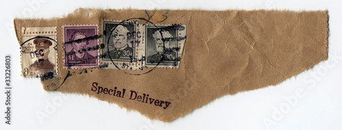 Special Delivery with Antique Stamps