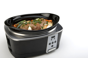 Pork Roast with Vegetables in a Slow Cooker