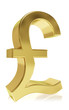 Photorealistic symbol of a pound