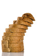 tower of sliced brown bread